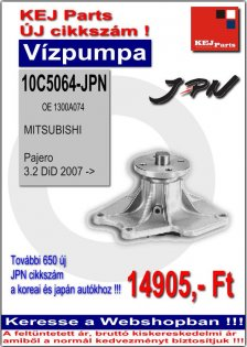 Vízpumpa MITSUBISHI Pajero 3.2 DiD 2007->